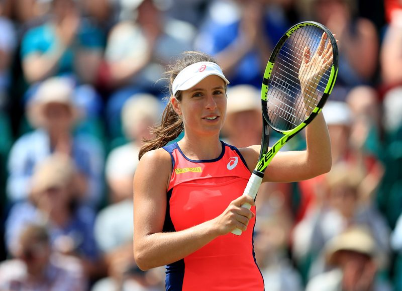 Konta through to quarter-finals